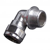 "Compression CHROME PLATED 15mmx 1/2"" Male Iron Elbow"