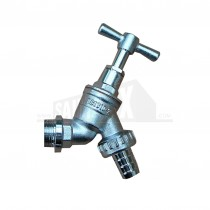 "Garden BIBTAP 1/2"" CHROME Plated DZR with Built in Check Valve"