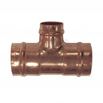Solder Ring Copper CENTRE Reducing Tee 22x22x15mm (L-2-R-2-C)