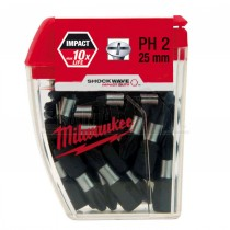 Milwaukee Shockwave Impact Duty Screwdriver Bits PH2 25mm 25pc