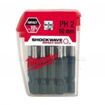 Milwaukee Shockwave Impact Duty Screwdriver Bits PH2 25mm 10pc
