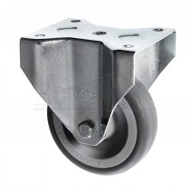Fixed Rubber Wheel Castor 200mm - For Flat / Cash & Carry Trolley