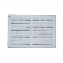 """White Plastic Louvre Ventilator with Fly Screen 9x6"""""""