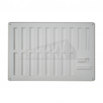 """White Plastic Hit & Miss Ventilator with Fly Screen 9x6"""""""