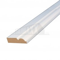 18 x 68mm (4.2m) Ogee Architrave White Primed MDF Per Piece