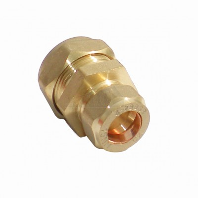 Compression Reducing Coupling 28mm x 15mm Brass